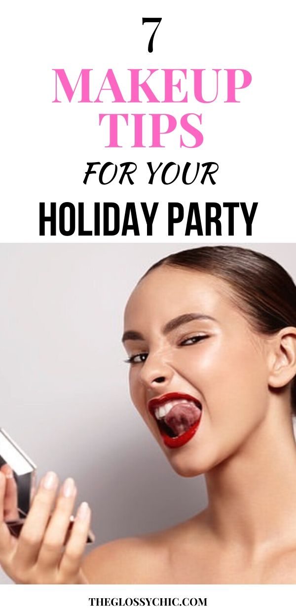 makeup tips for holiday party