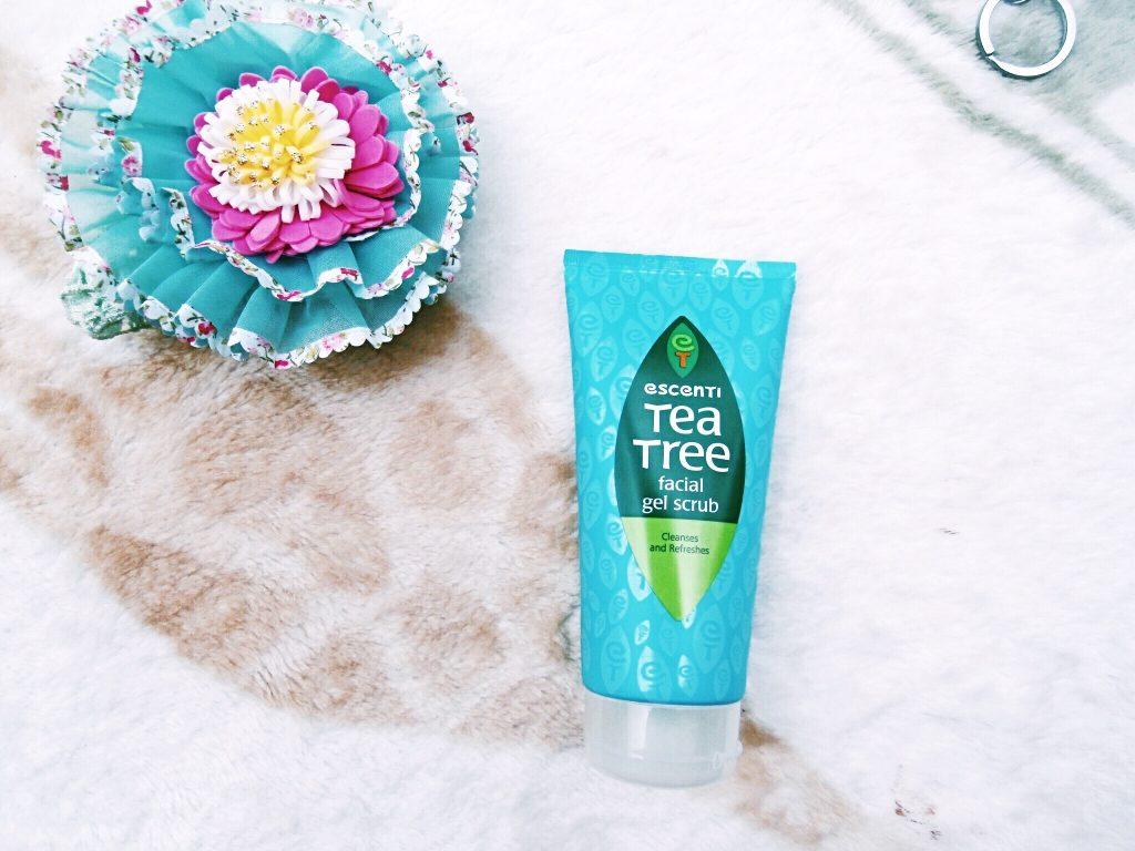 escenti tea tree facial gel scrub