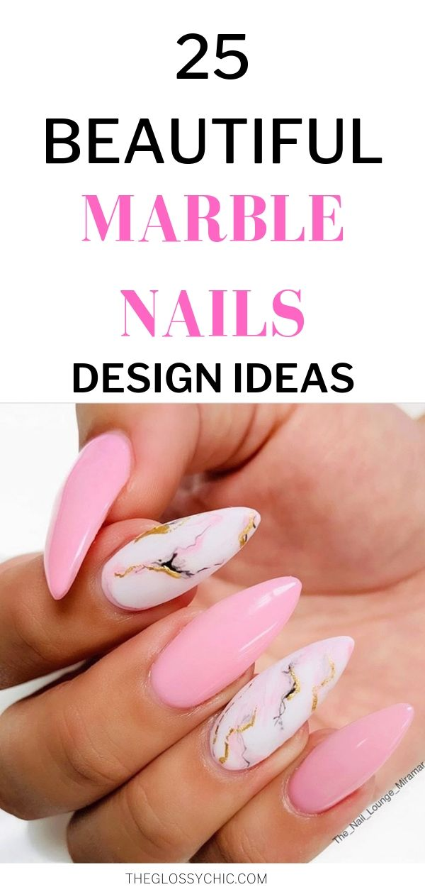 marble nail design ideas