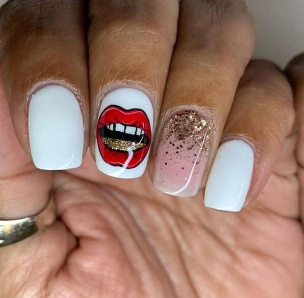 white nail designs