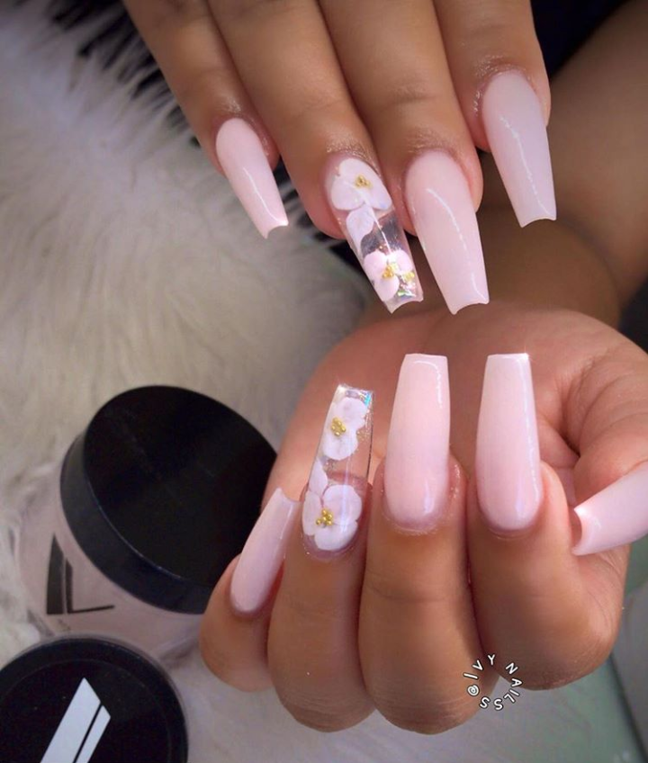 40+ Trendy Coffin Nails Design Ideas - The Glossychic