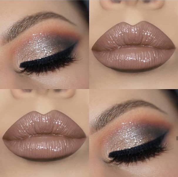Nude makeup looks