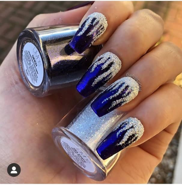 frozen nail design