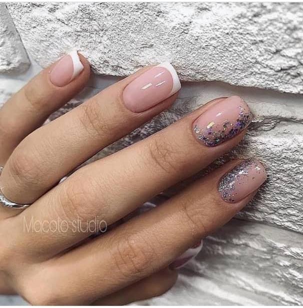 nude nail design