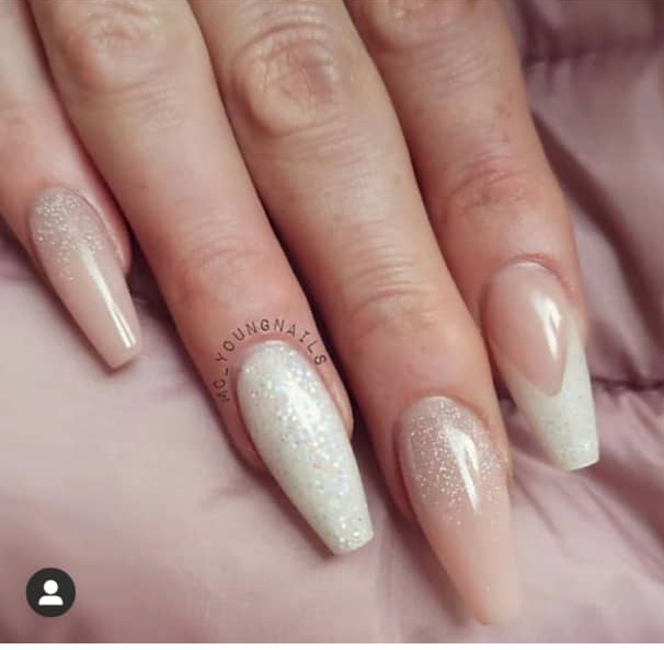 nude nail design