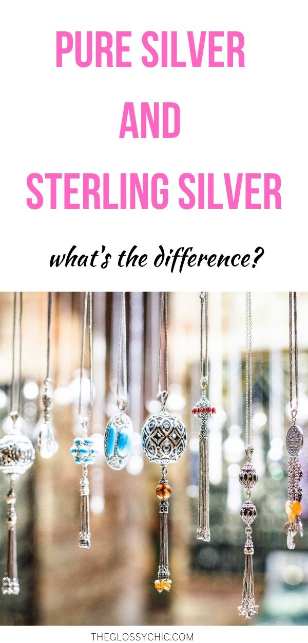 difference between pure silver and sterling silver