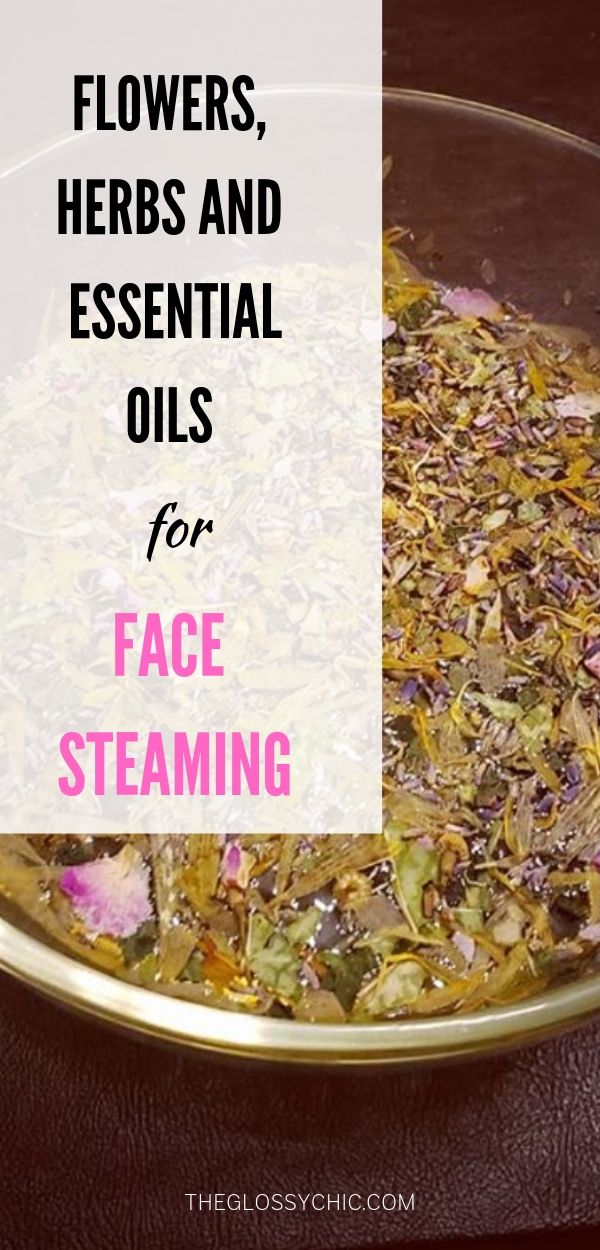 face steaming herbs and oils