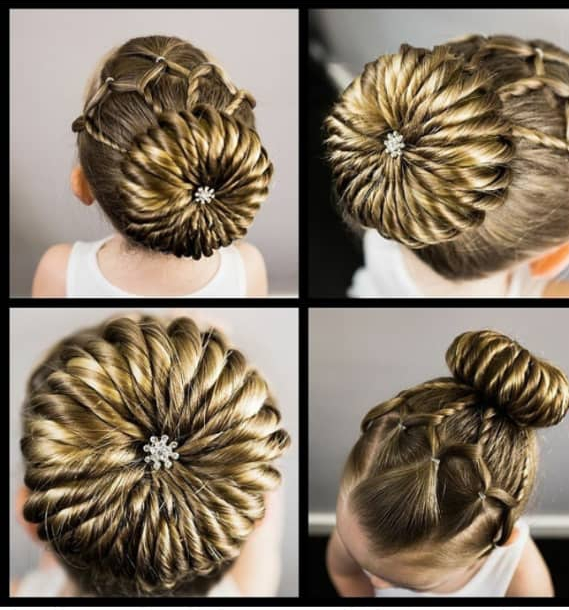 bun hairstyles for kids