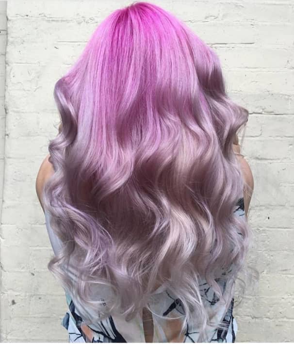 colourful long wavy hairstyles