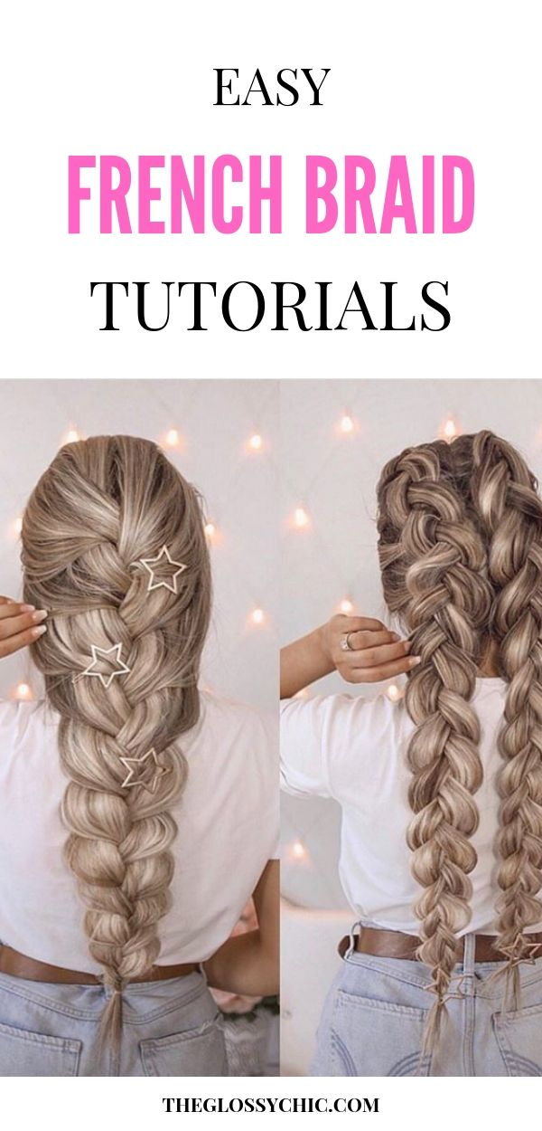 easy french braid tutorials