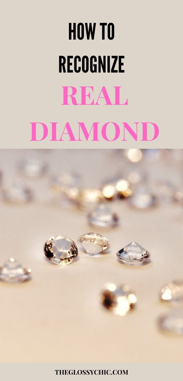 How to recognize real diamond