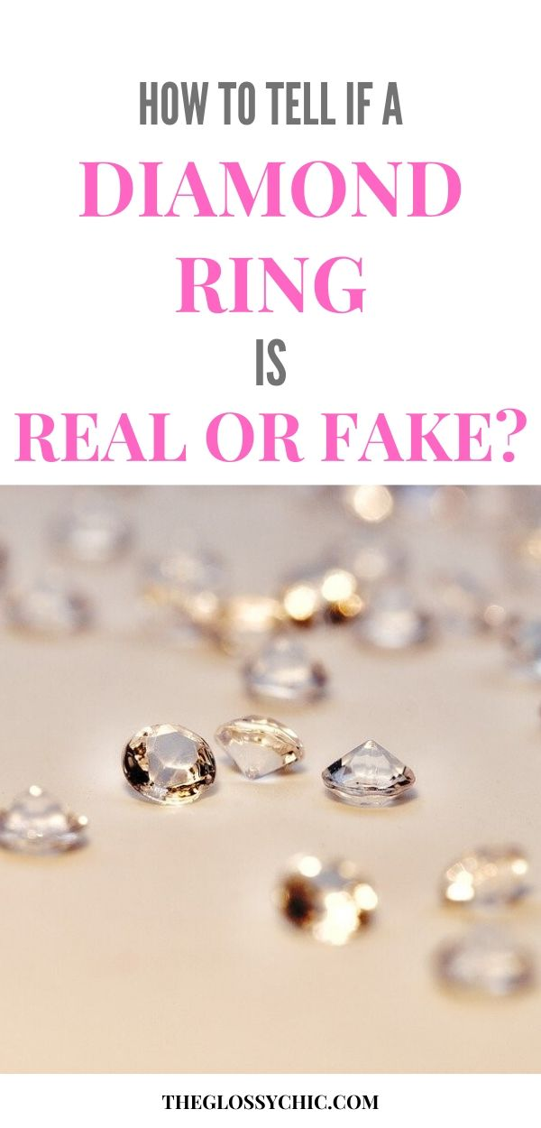 how to tell if a diamond ring is real or fake