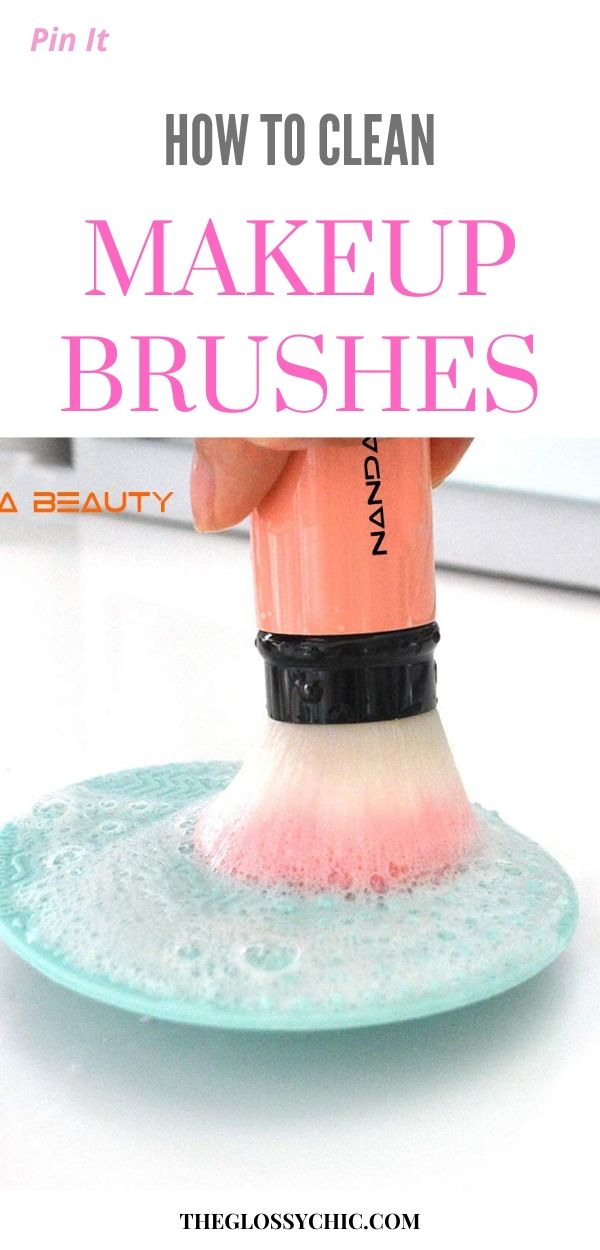 how to properly clean makeup brush