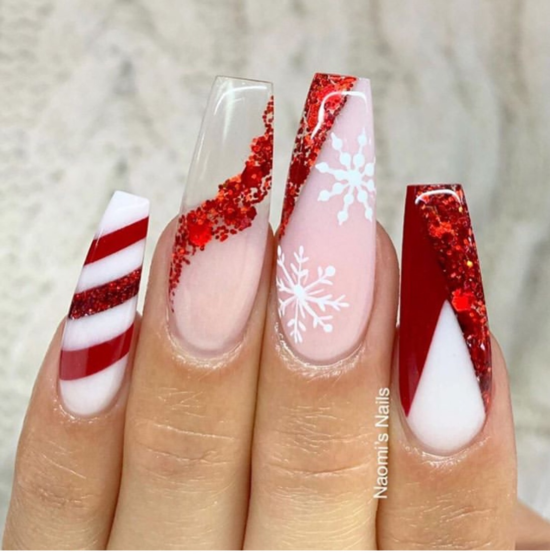 2019 Christmas nails