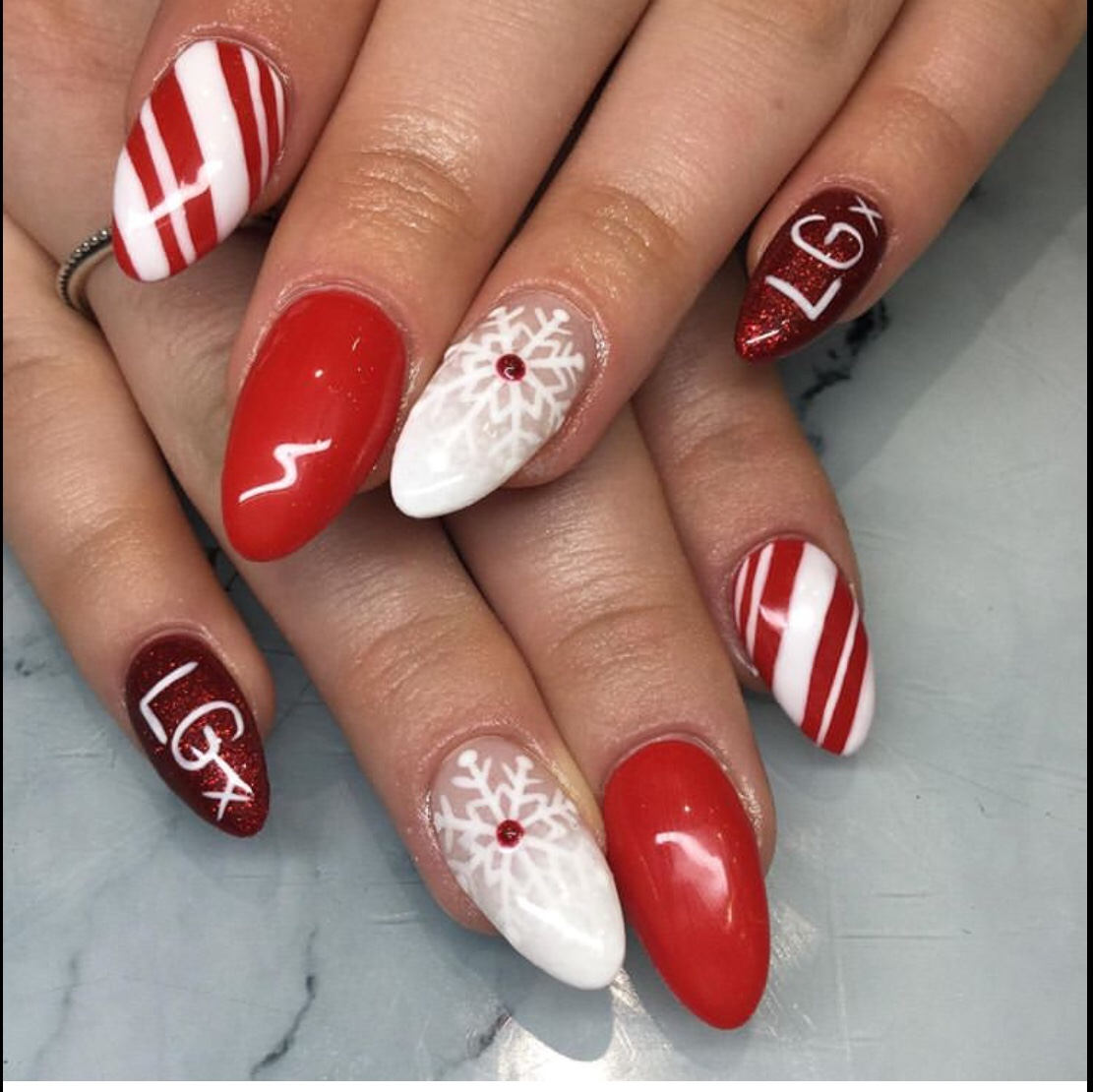 10 Beautiful Christmas Gel Nails