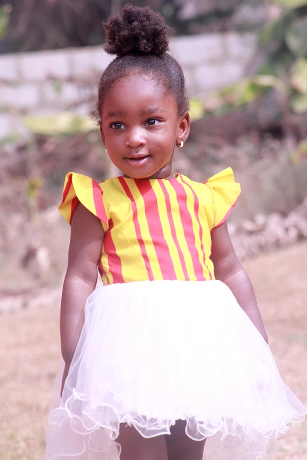 ankara princess dress