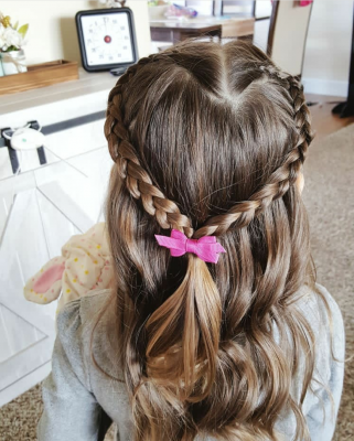 valentines day hairstyle for kids