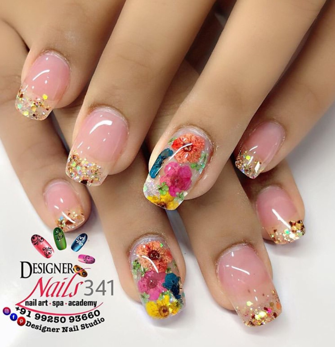 dried flower nail