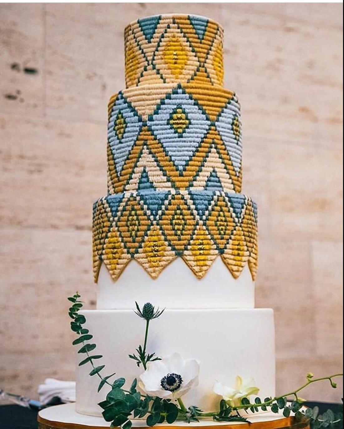 woven cake