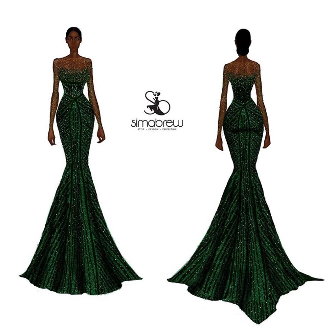 sima brew dress design