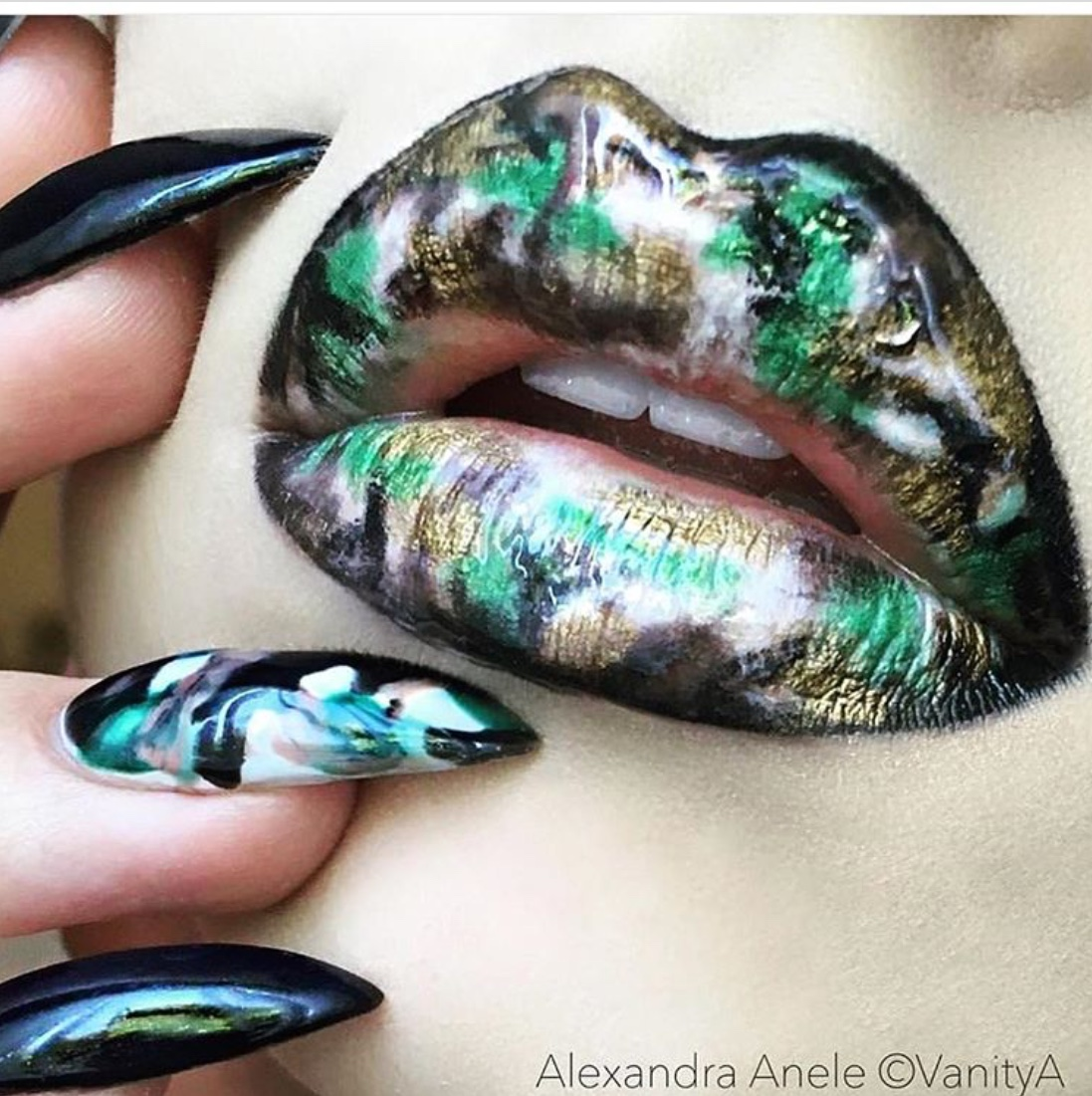 matching lips and nails