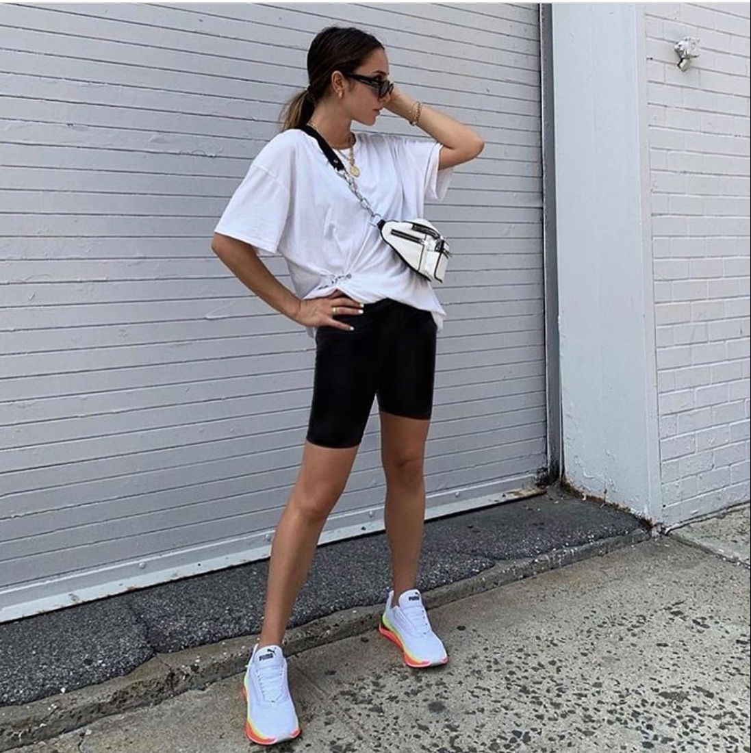 biker shorts outfit
