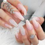 nude wedding nail designs