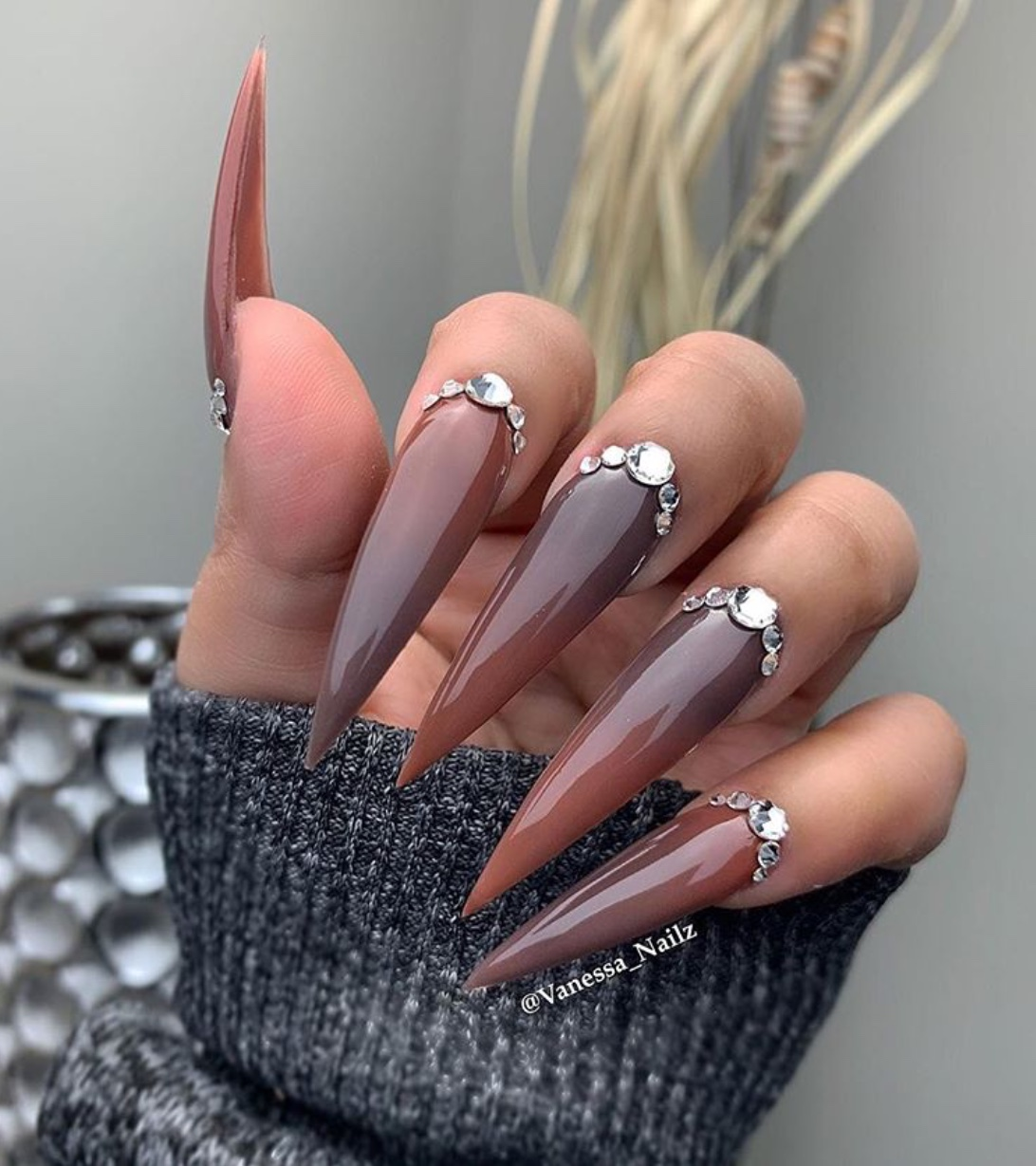 brown nail design