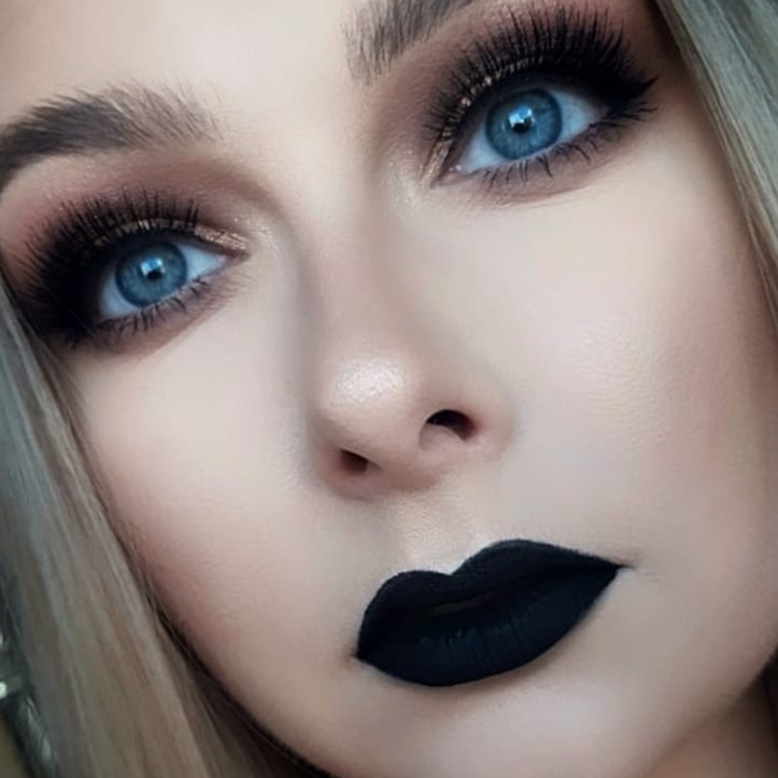 black lipstick looks