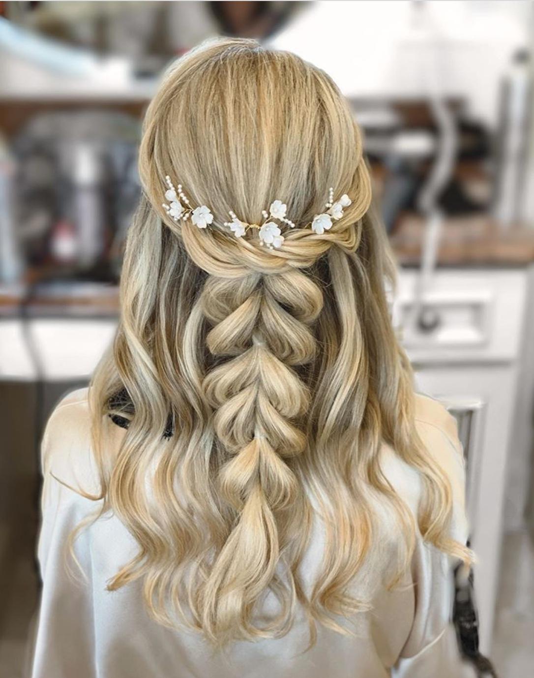 Boho bridal hairstyles