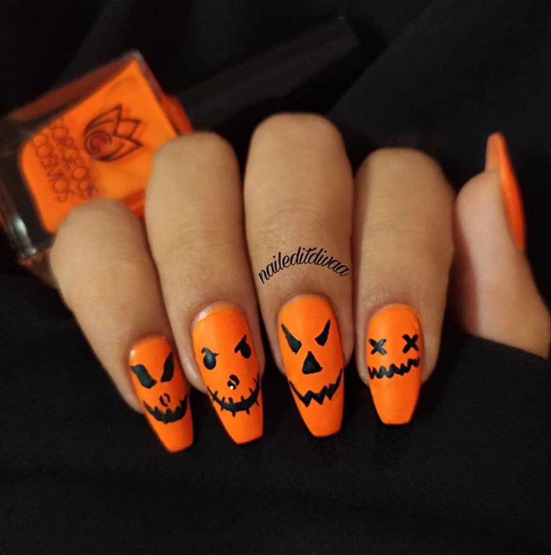 50 Fun Nail Arts For Halloween 2020 - The Glossychic
