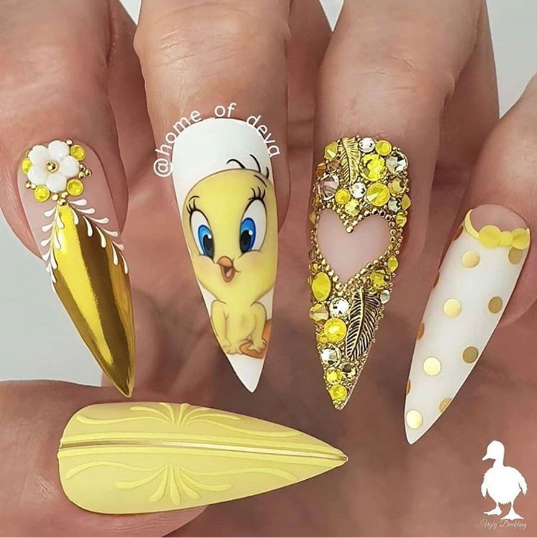 Cartoon nail designs