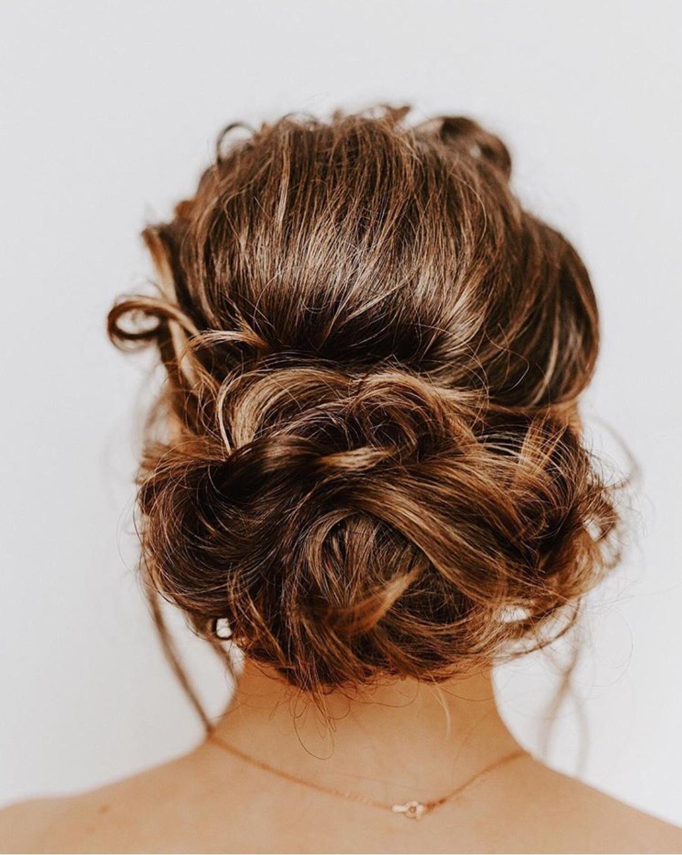 swept-back wedding hairstyle