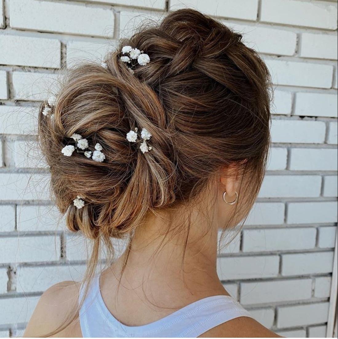 swept-back wedding hairstyles