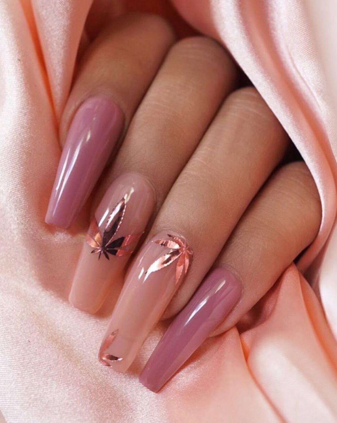 rosegold nail designs
