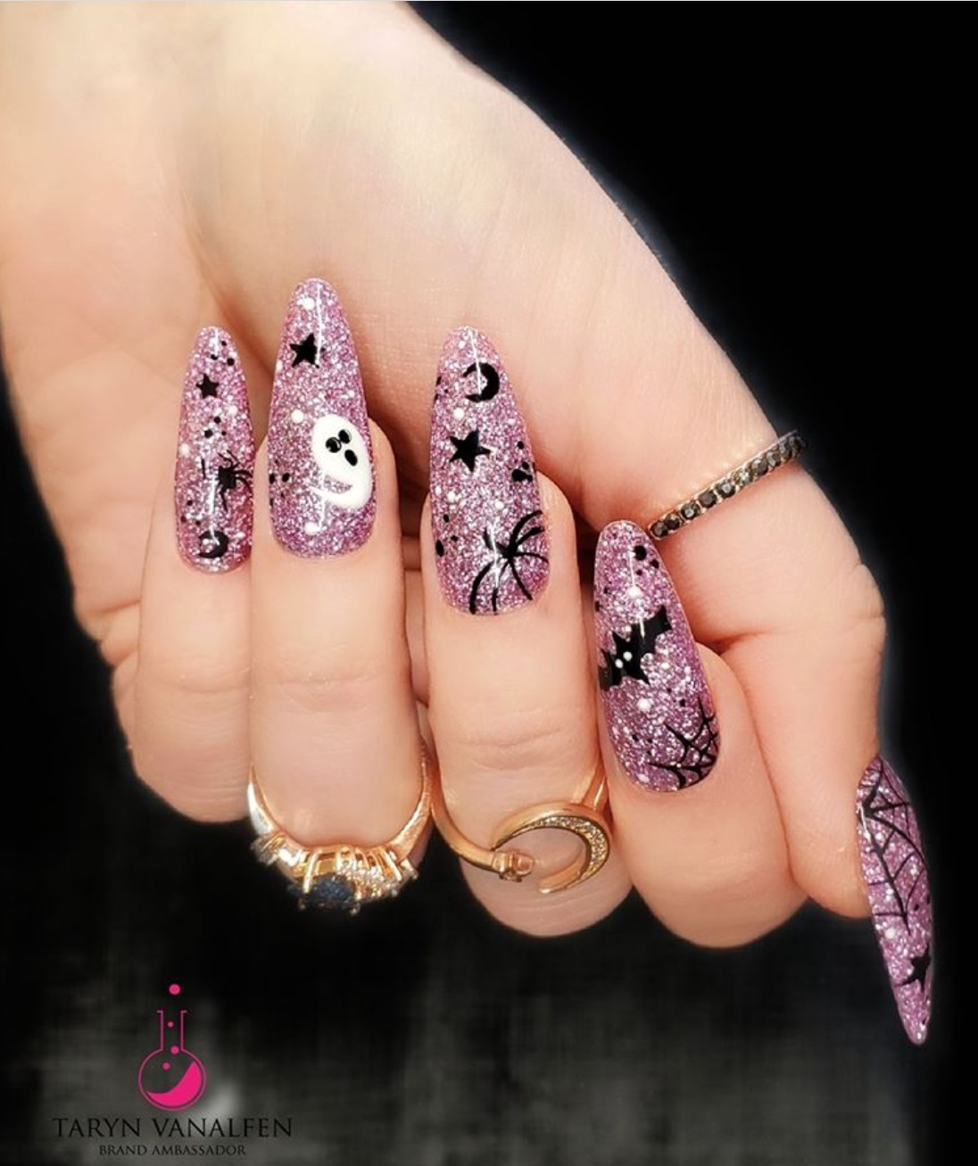 glam Halloween nails