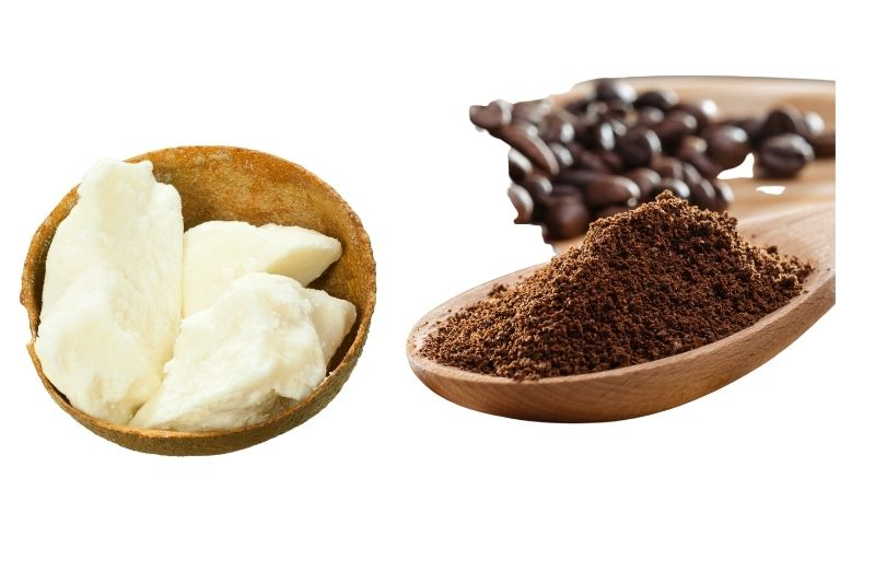 shea butter and coffee