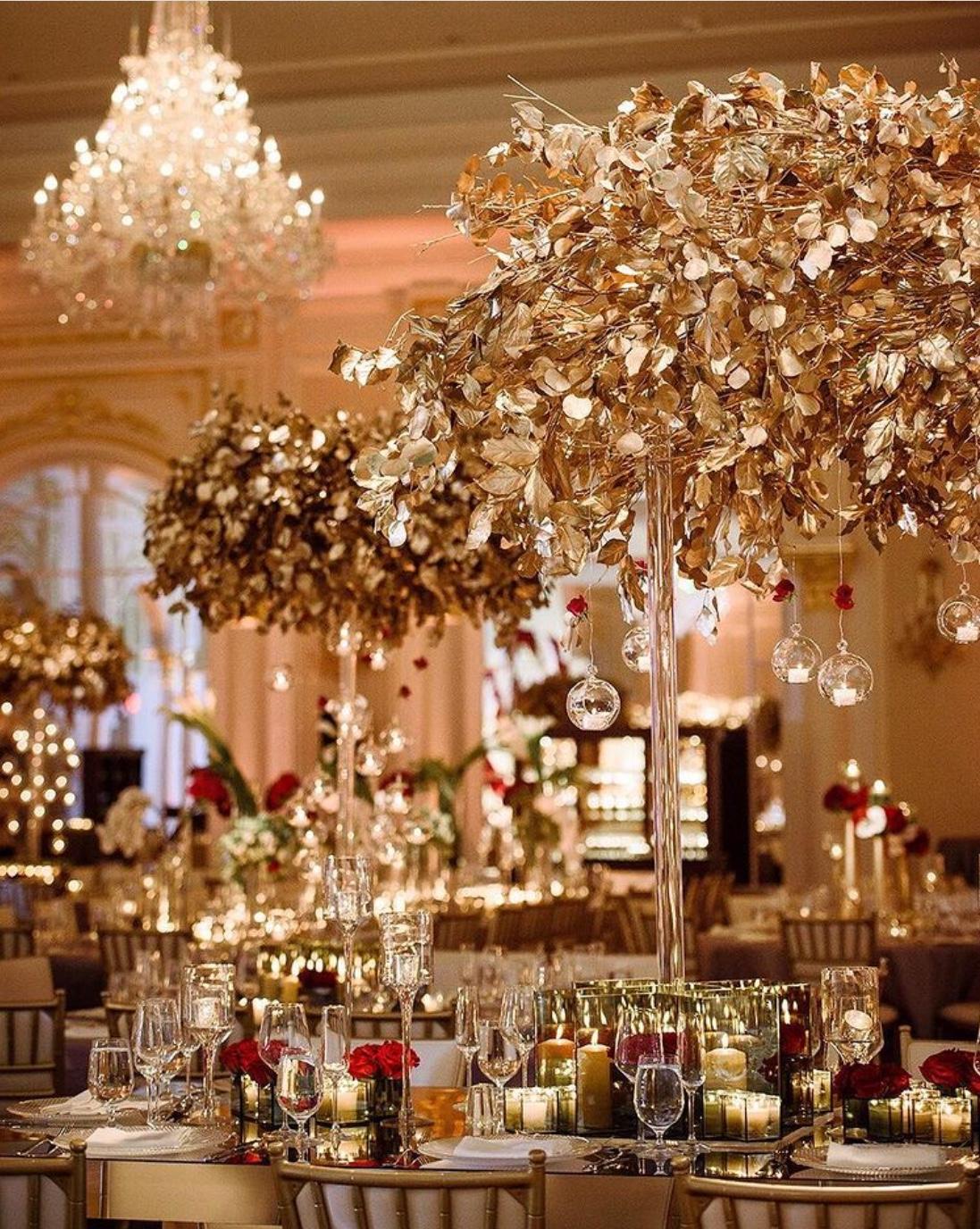 gold wedding palette