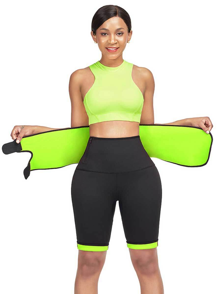FeelinGirl Women High Waist Tummy Control Neoprene Slimming Pants