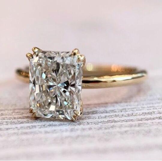 radiant cut diamond rings