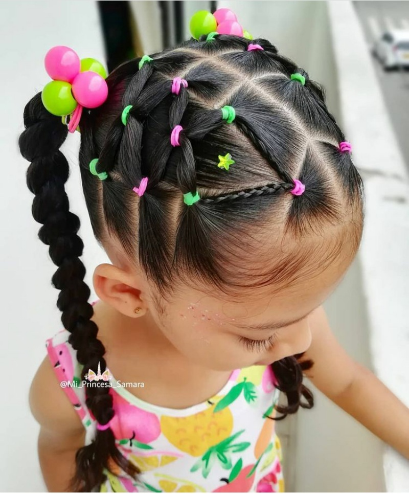rubberband hairstyles for kids