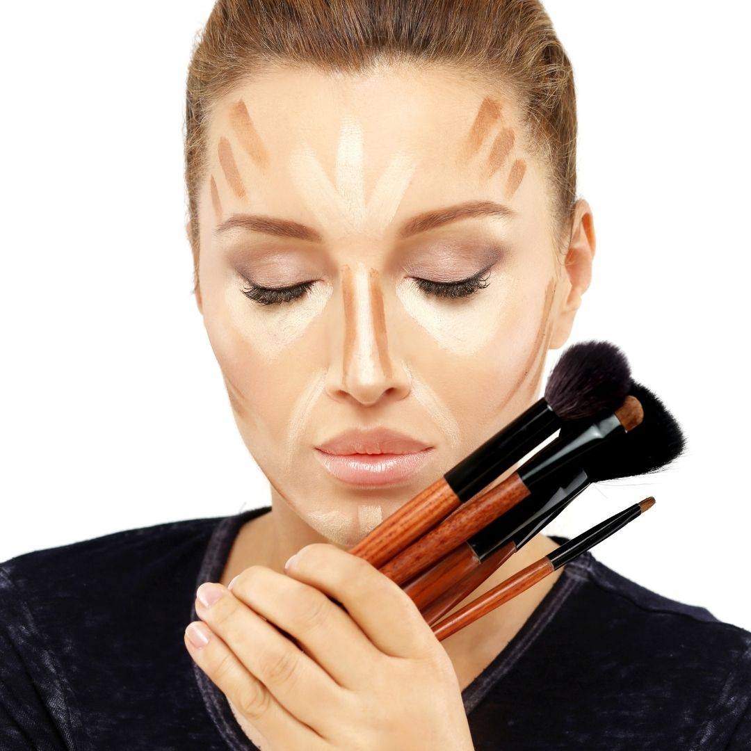 highlighting and contouring makeup technique