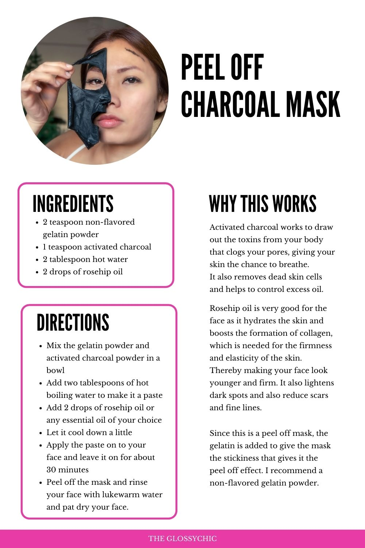 Diy Peel off charcoal mask