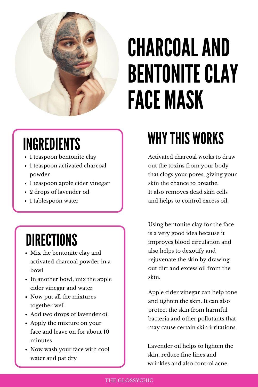 homemade Charcoal and bentonite clay face mask