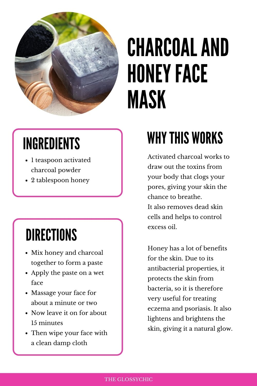 DIY Charcoal and honey face mask