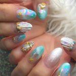 tropical beach nail design