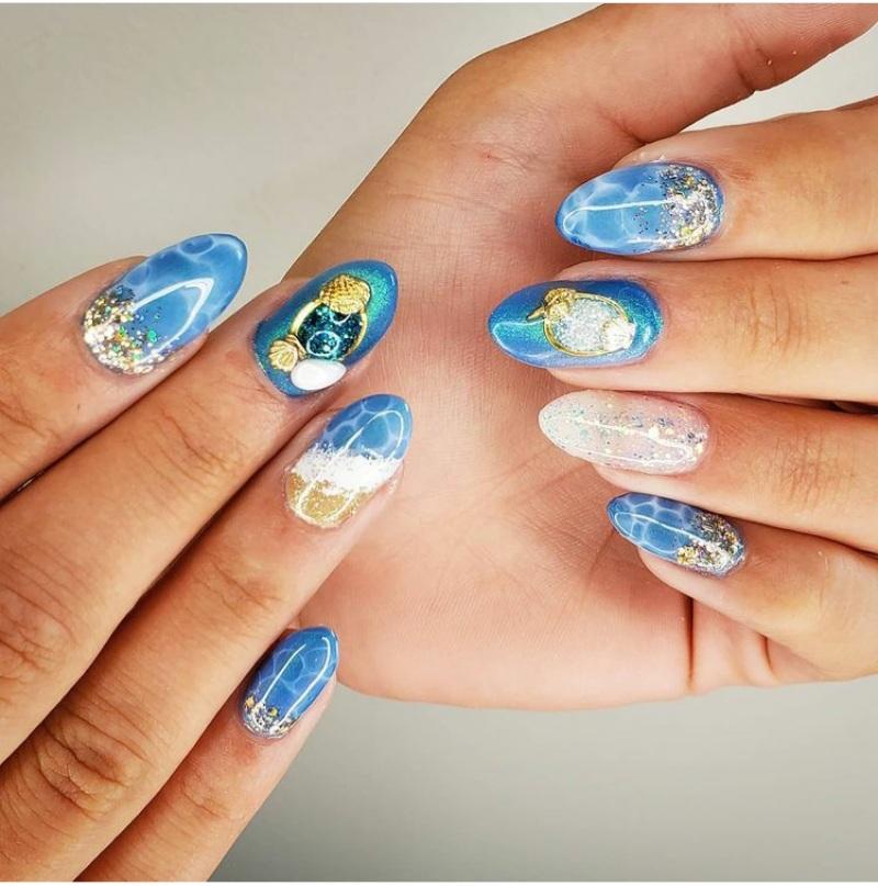 Tropical beach nail designs