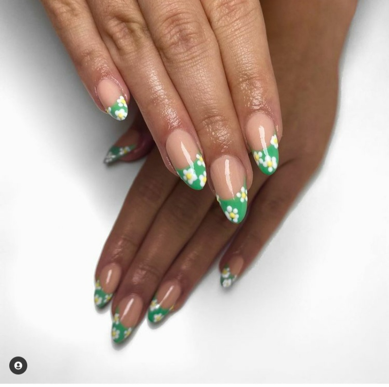 french tip nails 2021