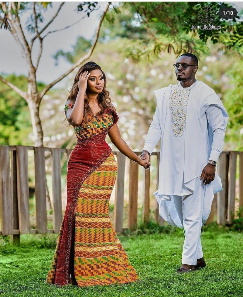 kente styles for engagement Ghana 2021