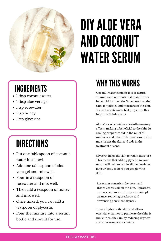 aloe vera and coconut water face serum